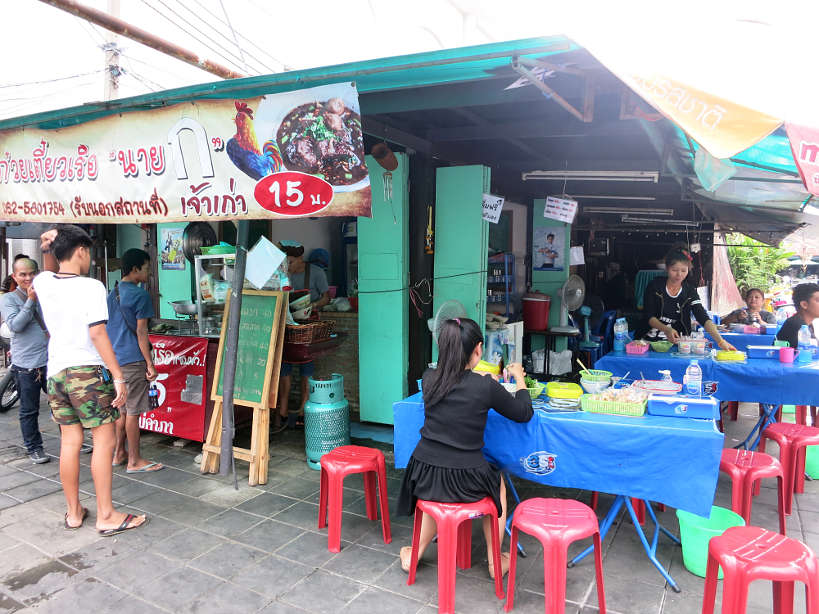 Local Eating at a street vendor for Bangkok food by Authentic Food Quest