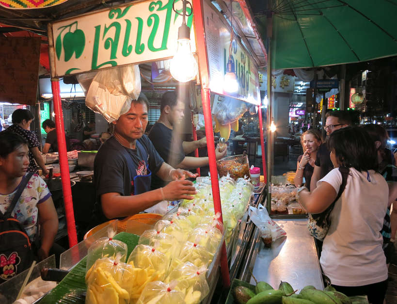 mango vendor bangkok at night authentic food quest