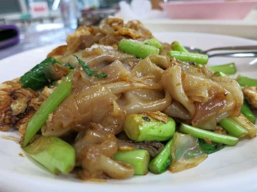 Pad See Ew Gai (large noodles stir fried with chicken and eggs) Bangkok Food by Authentic Food Quest