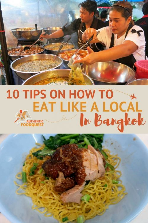 Pinterest 10 tips how to eat like a local in Bangkok Authentic Food Quest