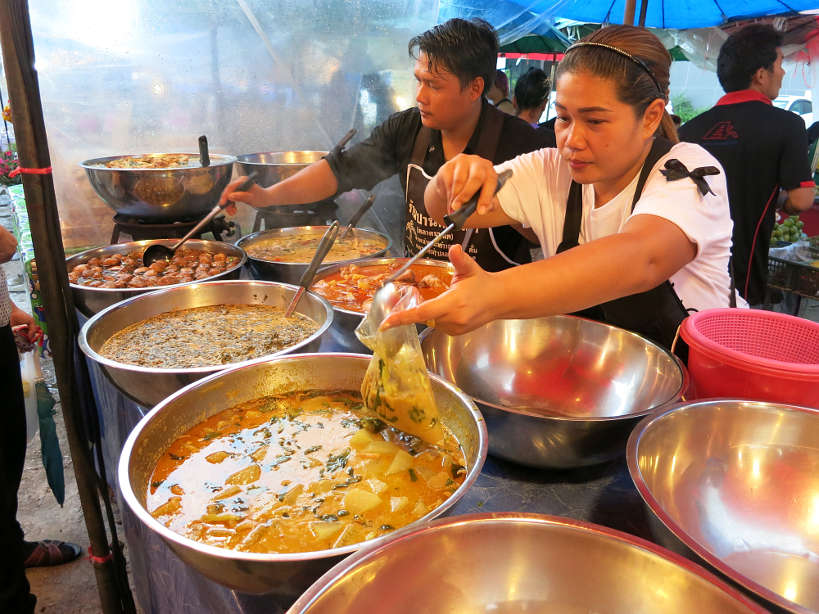 Sathorn Market Thai Curry Vendor Bangkok Markets Authentic Food Quest