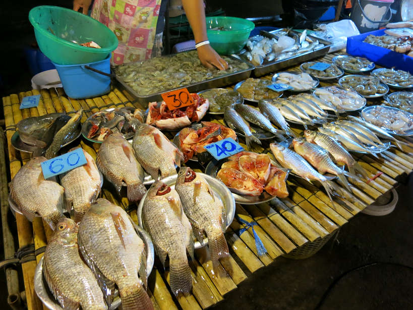 Sathorn Market Fish Stall Bangkok Markets Authentic food quest