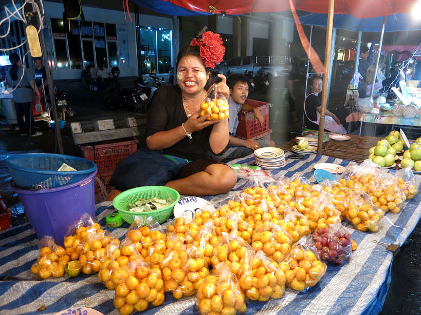 Sathorn Market Fruit Lady Bangkok Markets Authentic food quest