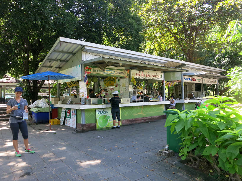 Food Court Lumpini Park for running with Bangkok by Authentic Food Quest