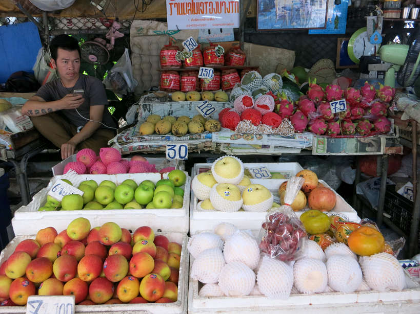 Fruit Vendor Bangkok food tour Authentic Food Quest