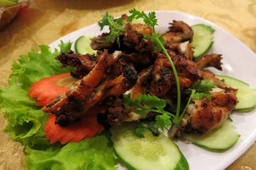 Grilled frogs with chili in Cambodia by Authentic Food Quest