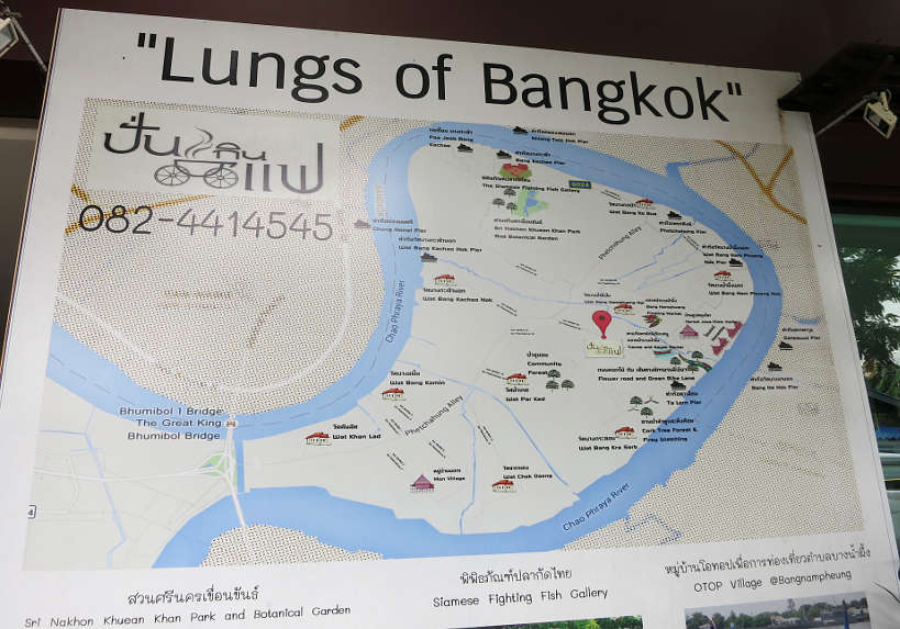 Map Bang Krachao Running in Bangkok Authentic Food Quest