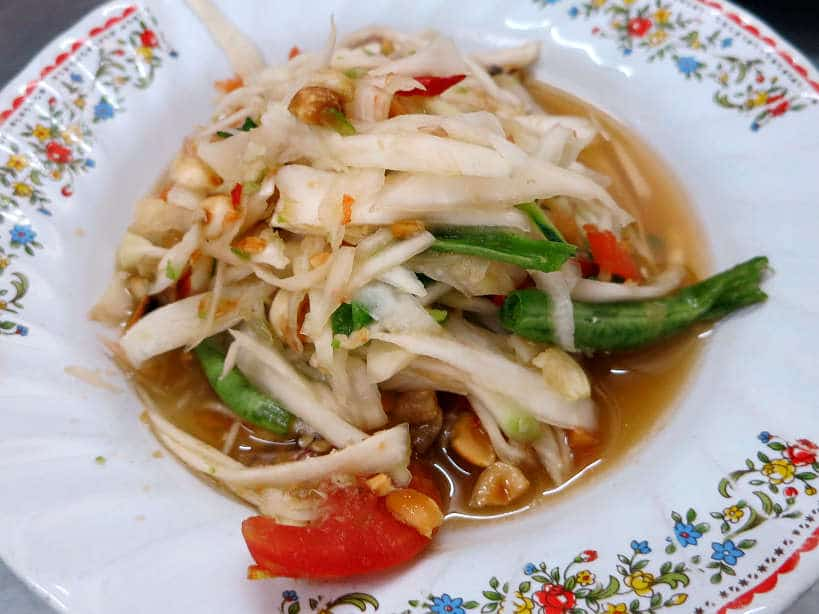 Papaya Salad Bangkok food tour Authentic Food Quest