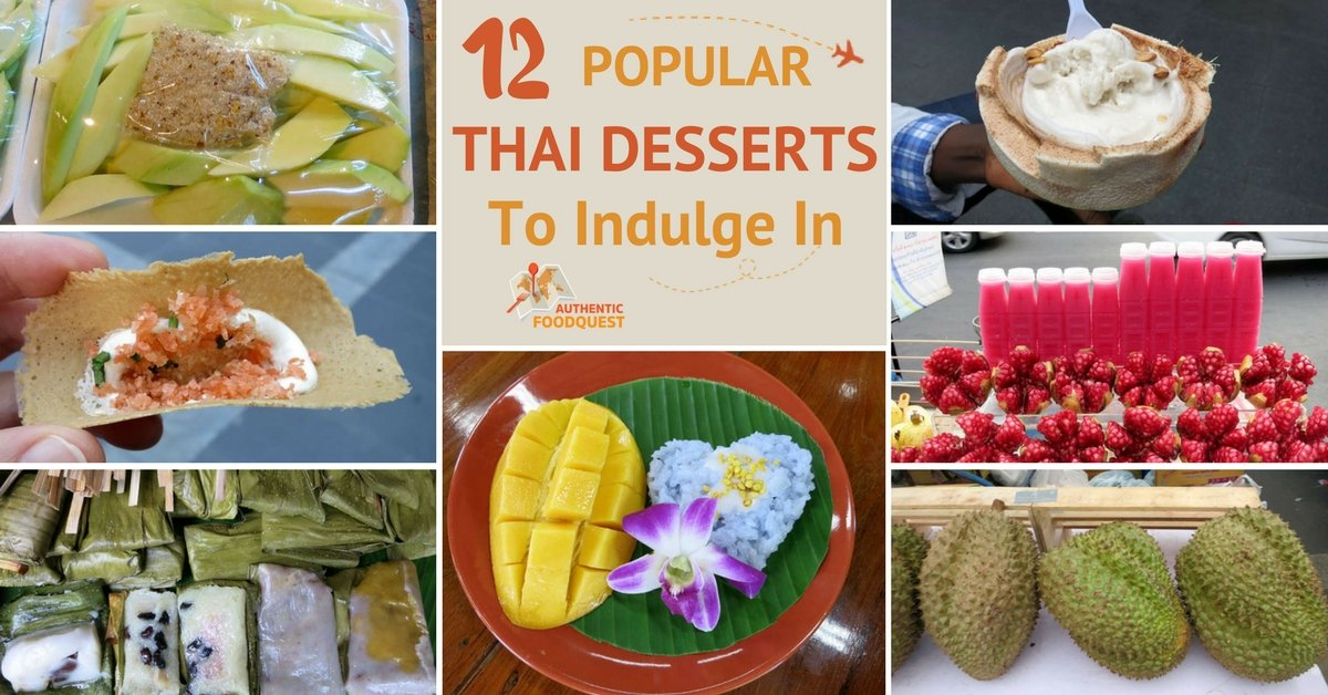 The 12 most delightful popular thai desserts to indulge in for Authentic cuisine