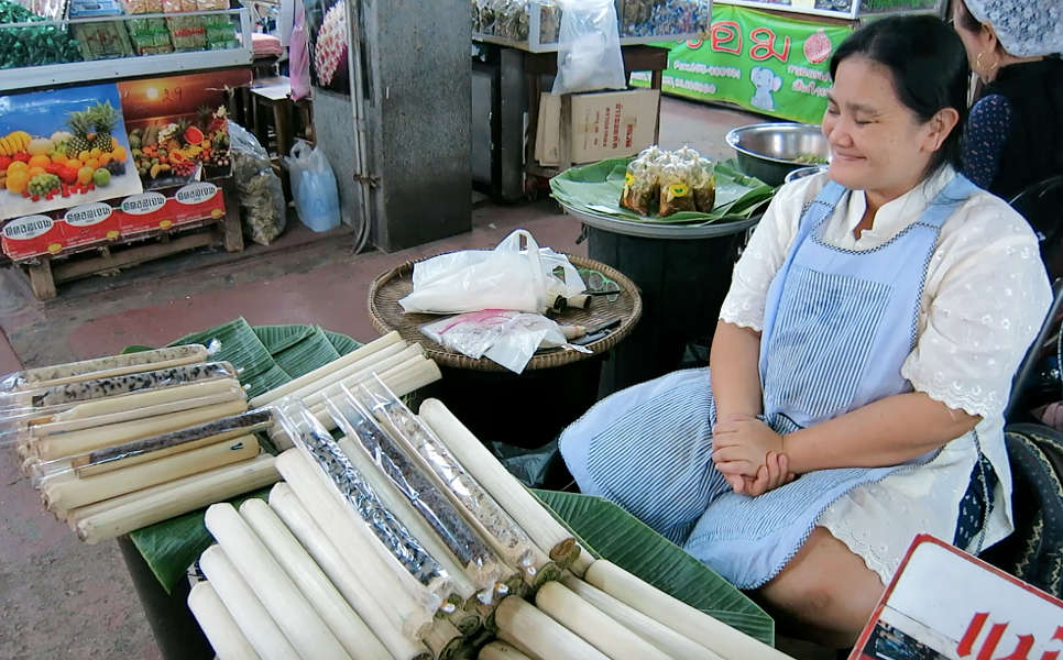Bamboo Sticky Rice Popular Thai Desserts Authentic Food Quest