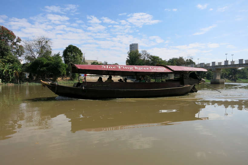 Boat Ride Ping River Chiang Mai Cooking Class Authentic Food Quest