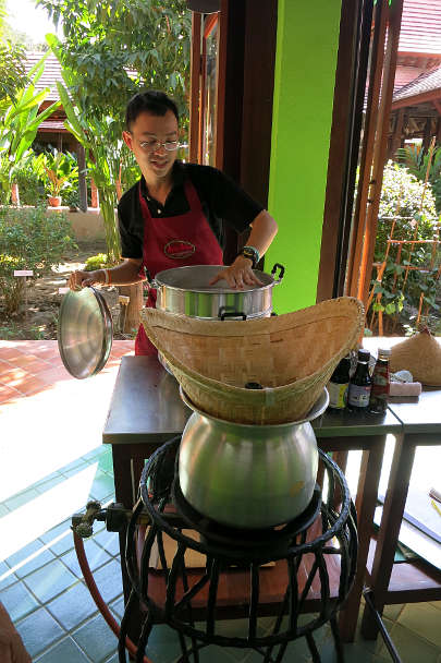 Chef O Sticky Rice Chiang Mai Cooking Class Authentic Food Quest