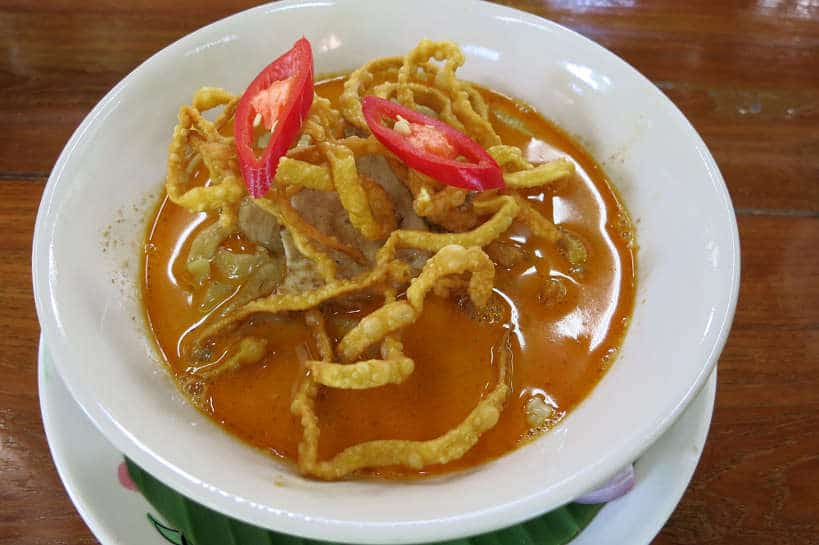 Khao Soi made during our Chiang Mai Cooking Class Authentic Food Quest