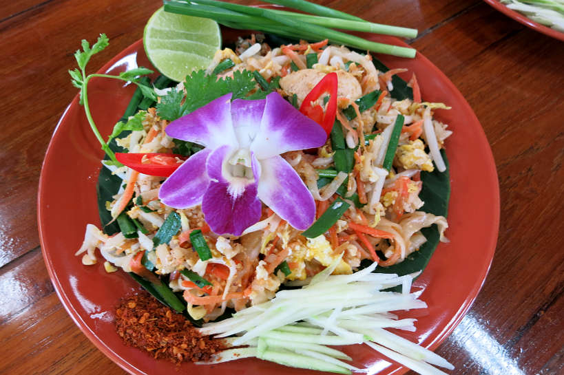 Pad Thai made by us during our cooking class in Chiang Mai Authentic Food Quest