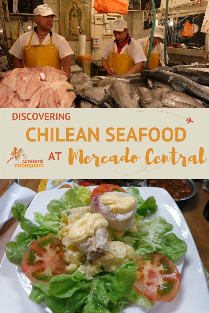 discovering chilean seafood at the mercado central