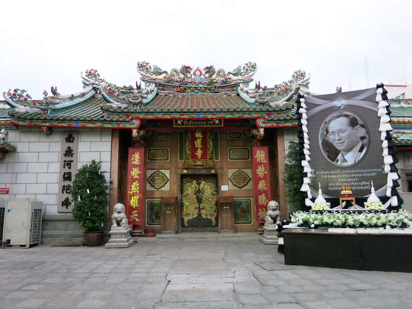 Wat Mangkon Kamalawat temple Chinatown Bangkok Food Authentic Food Quest
