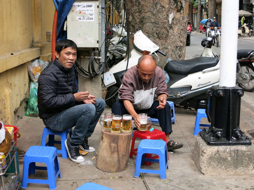 Workers having Bia Hoi for Food in Vietnam by Authentic Food Quest