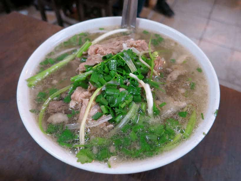 Beef Pho at Pho Gia Nguyen best pho in Hanoi by Authenticfoodquest