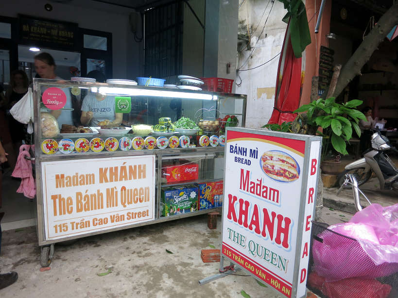 Madam Khanh, known as the Banh Mi Queen where to find the best banh mi in Hoi An and in Vietnam VietnameseSandwich Authentic Food Quest