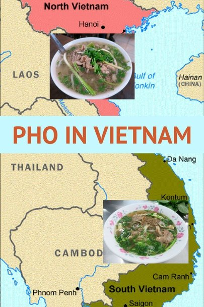 Map Pho in Vietnam by AuthenticFoodQuest