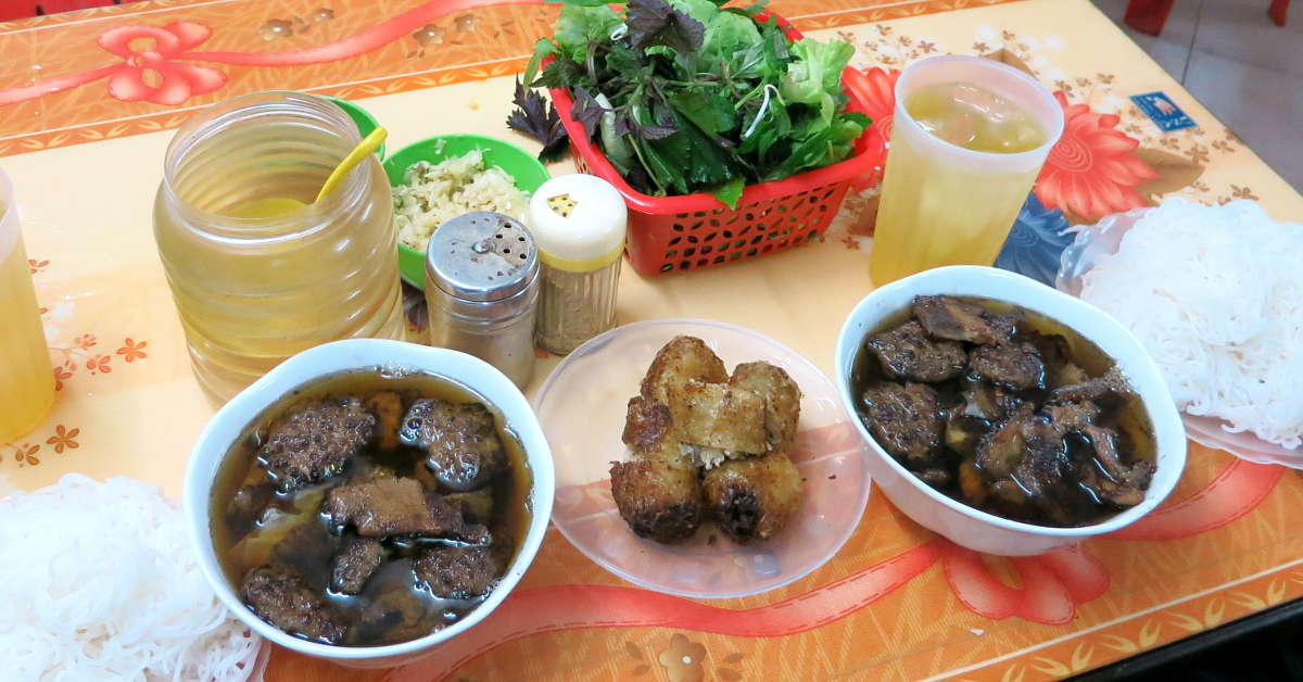 Bun Cha meal one of the Best Hanoi Food by AuthenticFoodQuest