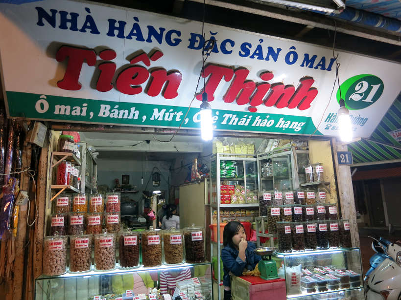 O Mai Store in Hanoi selling Vietnamese Desserts by AuthenticFoodQuest