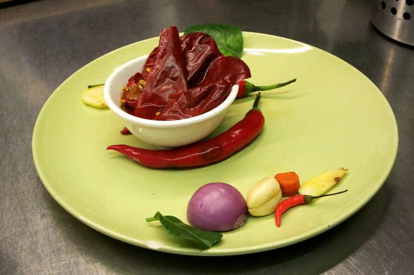 Chili at La Table Khmer for Cambodia Cooking Class by Authentic Food Quest.