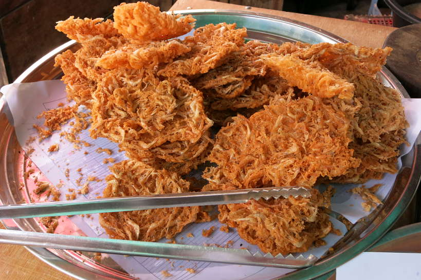 Fried shrimp cake Cambodian Street Food Authentic Food Quest