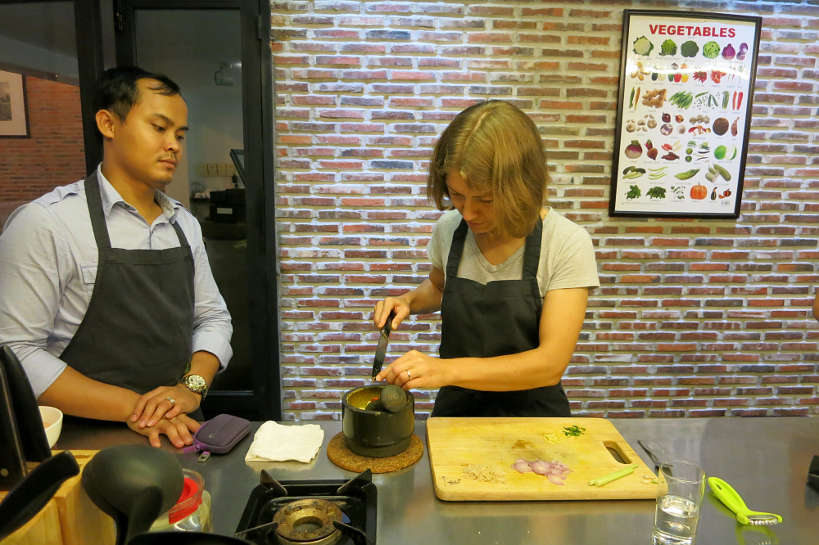 Claire at La Table Khmere Cambodia Cooking Class Authentic Food Quest