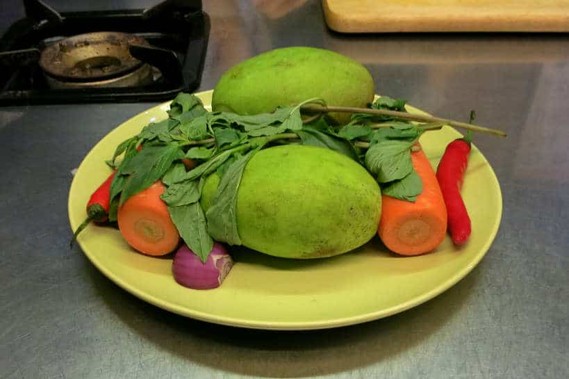 Green Mangoes at La Table Khmere Cambodia Cooking Class Authentic Food Quest