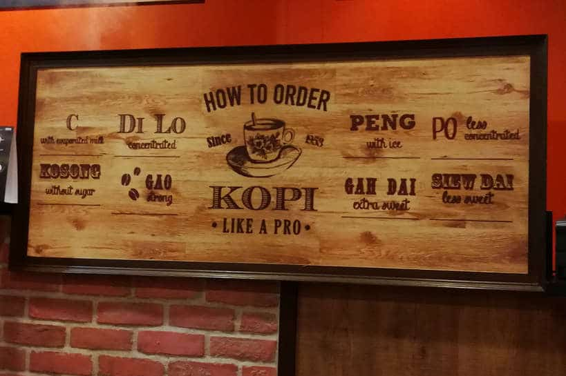 Order Kopi Singapore Food Authentic Food Quest