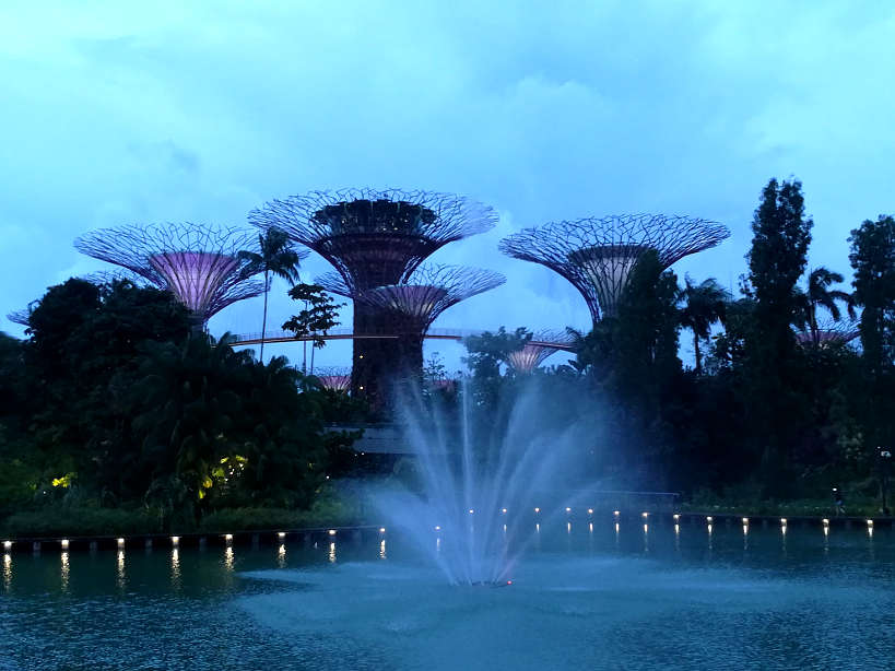 Gardens By the Bay for Food in Singapore by Authentic Food Quest. You can find some of the best affordable restaurants in Singapore. This is the perfect place for what to eat in Singapore for dinner