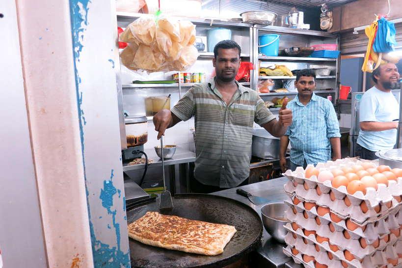 Murtabak Vendor Food in Singapore by Authentic Food Quest
