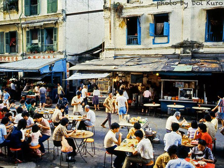 Old hawker centers SIngapore 1980 by Doi Kuro Authentic Food Quest