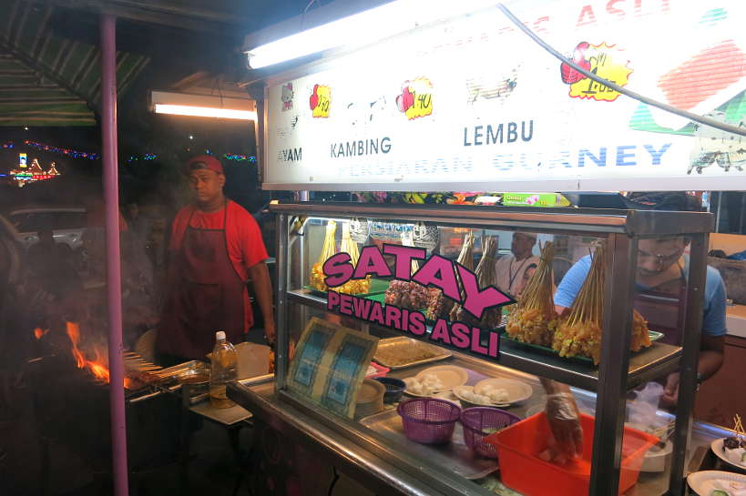 Pork Satay Stall Penang Famous Food Authentic Food Quest
