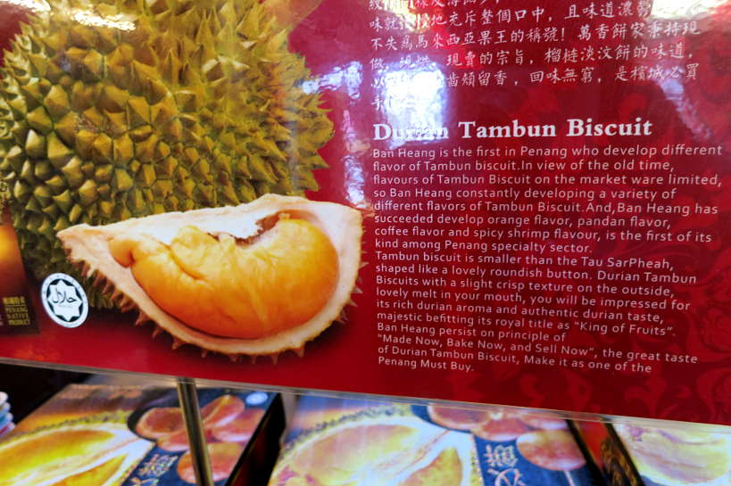Durian Tambun Biscuit durian taste Authentic Food Quest