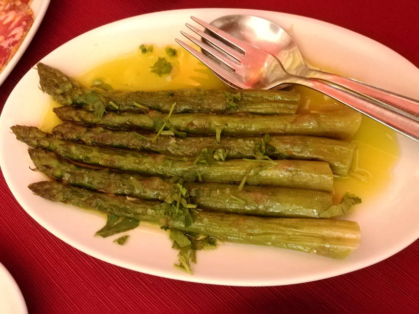 Asparagus Food at Cafe Alentejo in Evora Authentic Food Quest