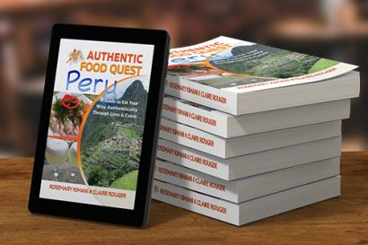 Paperback books and Kindle version Authentic Food Quest Peru