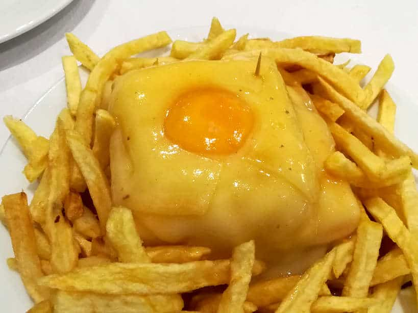 Francesinha one of the best Porto Foods by Authentic Food Quest for best food in Porto