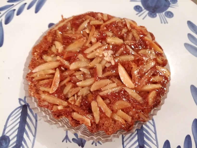 Tarte de Amendoa - Portuguese Almond Tart is one of the Portuguese desserts and Porto foods not to miss by Authentic Food Quest
