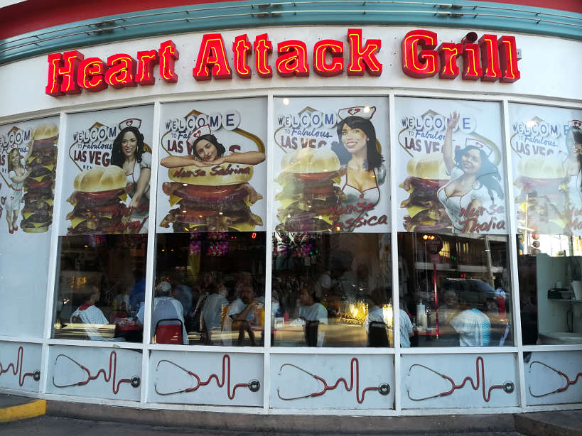 Heart Attack Grill Downtown Las Vegas Food Tour Authentic Food Quest