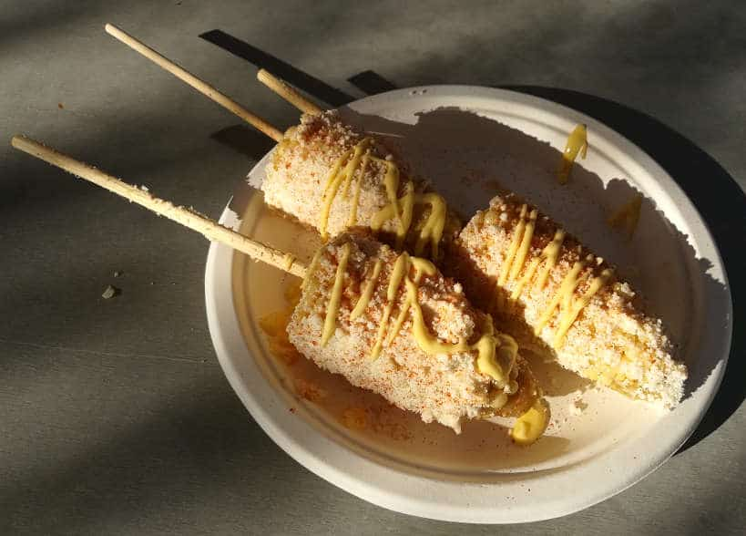 Pinches Tacos Street Corn in Downtown LasVegas Food Tour by Authentic Food Quest