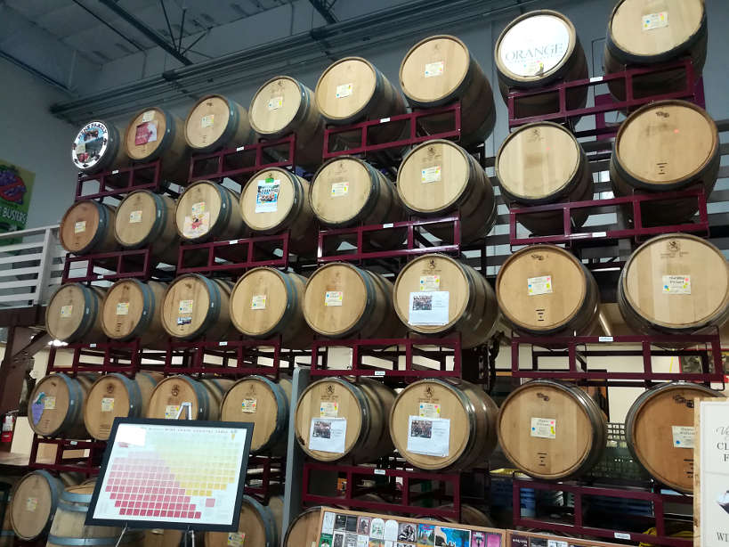 Las Vegas winery barrels by AuthenticFoodQuest