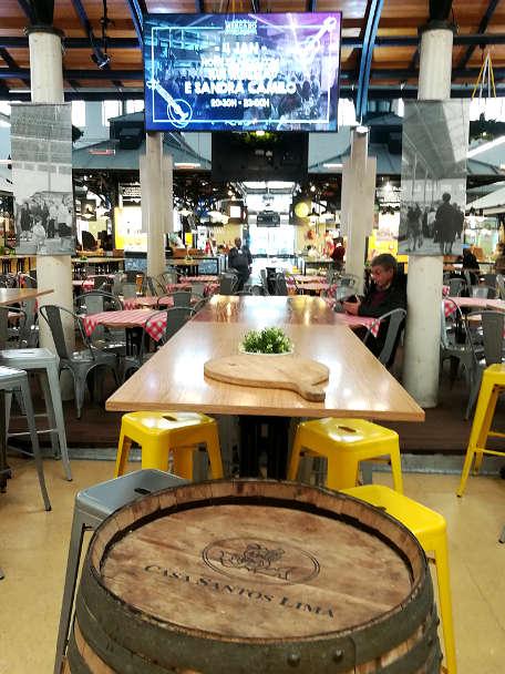 Mercado de Ourique for Lisbon restaurants wherel ocals eat the best Lisbon food by Authentic Food Quest