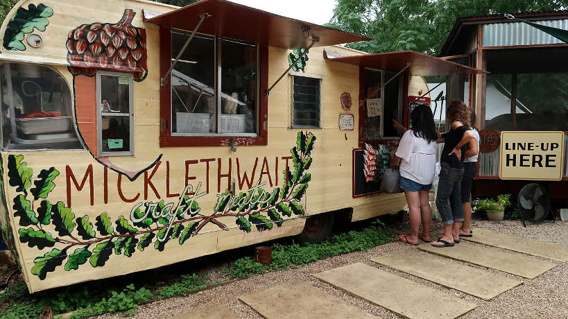 Micklethwait Craft Meats Trailer the best Food Truck BBQ for Austin BBQ Guide by Authentic Food Quest. In our opinion, the best barbecue sausages we had on our quest for the best barbecue in Austin.