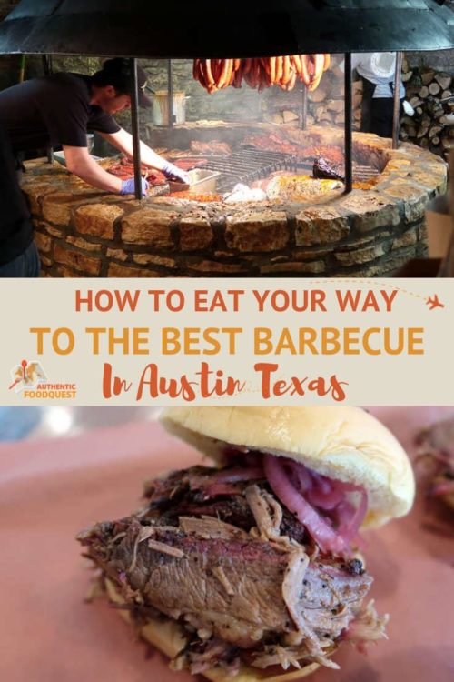 Pinterest Pin for Authentic Food Quest for the best BBQ in Austin Texas