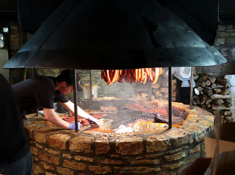 The Pit at Salt Lick on our quest for the Best BBQ in Austin Authentic Food Quest
