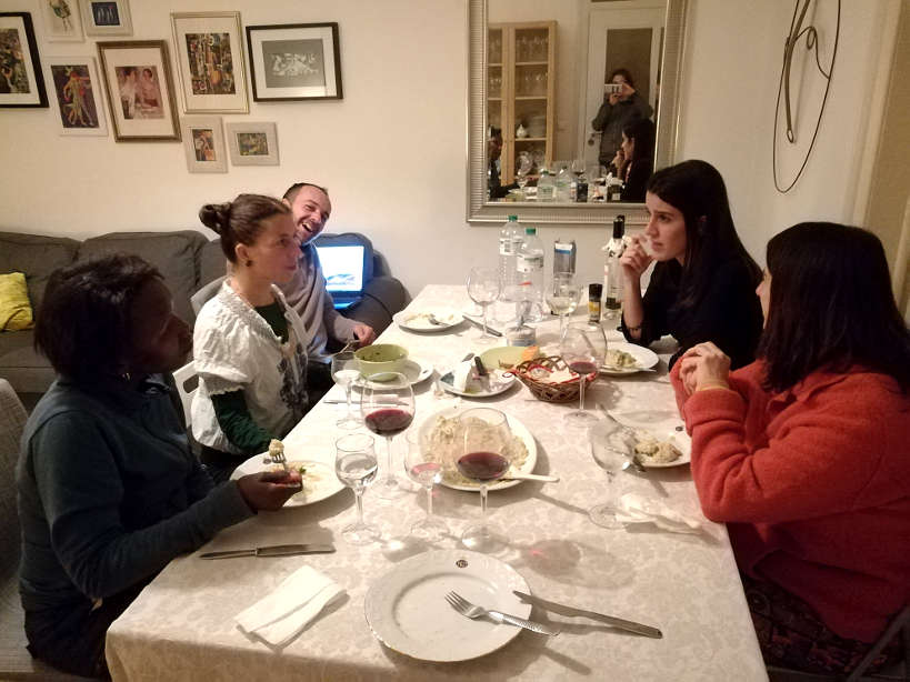Rosemary,Maobi, Gennaro,Juana and Cristina for Portuguese food and Portuguese Dinner while Eating with a Portuguese family by Authentic Food Quest
