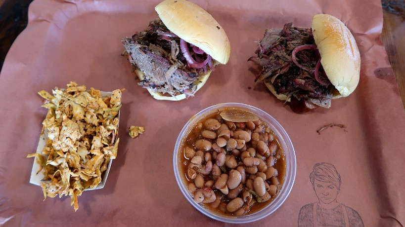 Sides Sandwiches at La Barbecue for the Best BBQ in Austin by Authentic Food Quest