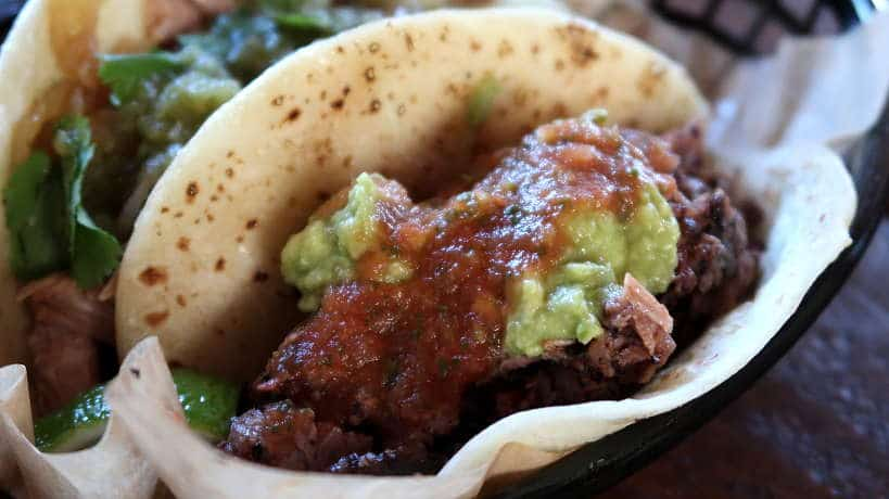 Valentinas BBQ Brisket Tacos for the Best Tex-Mex BBQ in Austin by Authentic Food Quest